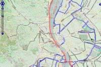 Kerékpárutak kerékpáros biciklis bringa térkép